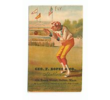 "Vintage Baseball Card ""Fly"" Photographic Print"
