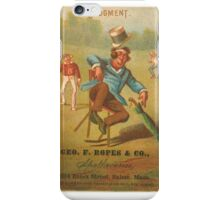 "Vintage Baseball Card ""Judgment"" iPhone Case/Skin"