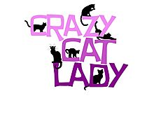 Crazy cat lady Photographic Print