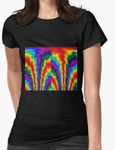 Flaming Rainbow  Womens Fitted T-Shirt