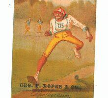 "Vintage Baseball Card ""Home Run""  by reddkaiman"