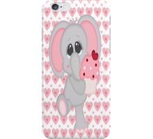 Baby Elephant Loves Cupcakes iPhone Case/Skin