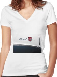 Ford F-100 Women's Fitted V-Neck T-Shirt
