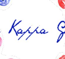 Kappa Kappa Gamma Flowers Sticker