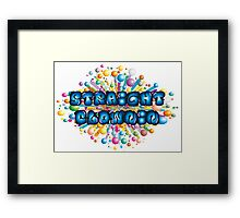 Straight Clownin Framed Print