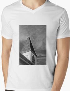 Rural Steeple Mens V-Neck T-Shirt