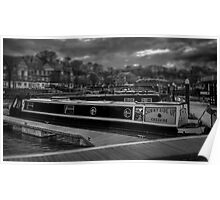 Toy Canal Barge Poster