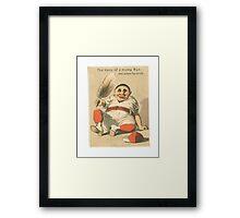"Vintage Baseball Card ""The Ladies Favorite""  Framed Print"