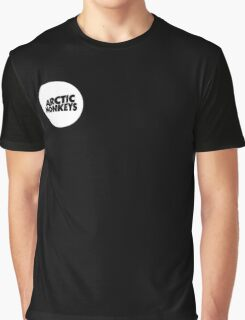 Arctic Monkeys White Circle Graphic T-Shirt