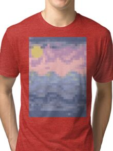 8 Bit Blues - Ocean Sea Tri-blend T-Shirt