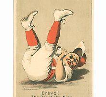 "Vintage Baseball Card ""The Pet of the Nine"" by reddkaiman"
