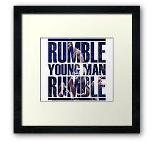 Anthony Rumble Johnson Framed Print