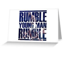 Anthony Rumble Johnson Greeting Card