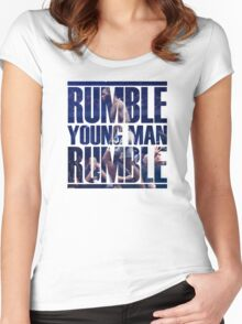 Anthony Rumble Johnson Women's Fitted Scoop T-Shirt