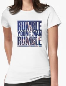 Anthony Rumble Johnson Womens Fitted T-Shirt