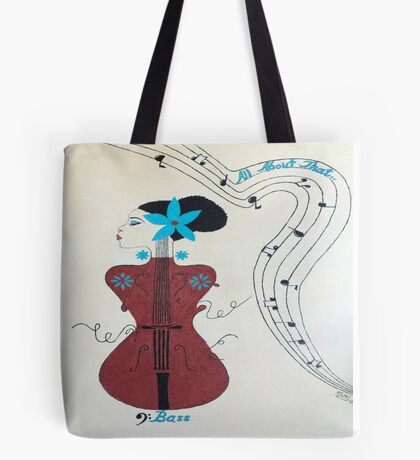 """Adele """"All About That Bass Tote Bag"""