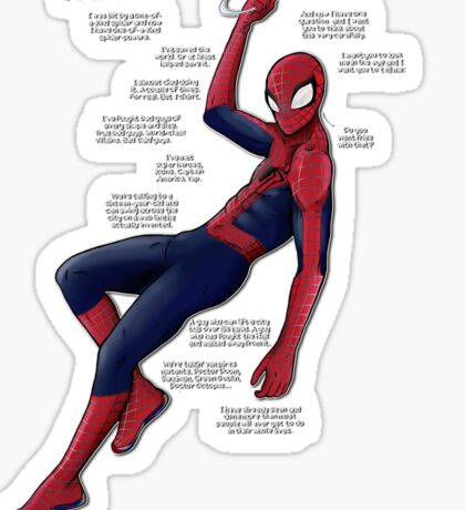 Ultimate Comics Spider-Man (fries monologue) Sticker Sticker