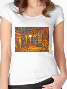 Dream courtyard Women's Fitted Scoop T-Shirt