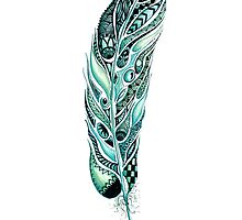 Tribal Feather Illustration by Ronelle Cook