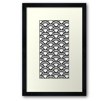 Japanese style pattern Framed Print
