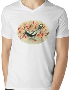 Baby the Magpie Mens V-Neck T-Shirt