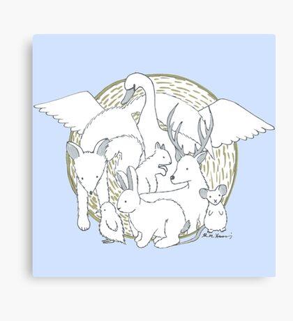 Enchanted Animals Canvas Print