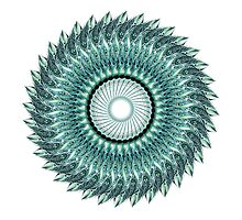 Tribal Feather Mandala by Ronelle Cook