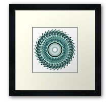 Tribal Feather Mandala Framed Print