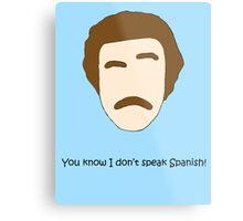 You know I don't Speak Spanish! Metal Print