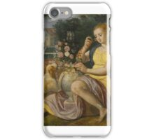 Follower of Maerten de Vos AN ALLEGORY OF SMELL; AN ALLEGORY OF TOUCH iPhone Case/Skin