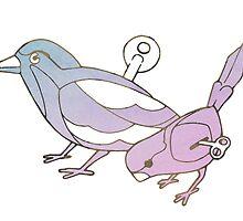 Wind Up Tweeting Birds by Chris Kirkby