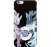 Mega Mewtwo Y vs Mega Lucario iPhone Case/Skin