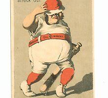 "Vintage Baseball Card ""Struck Out"" by reddkaiman"