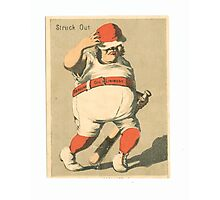 "Vintage Baseball Card ""Struck Out"" Photographic Print"