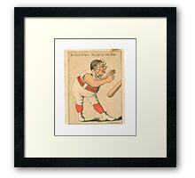 "Vintage Baseball Card ""A Close Affair"" Framed Print"