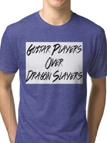Guitar Players Over Dragon Slayers Tri-blend T-Shirt