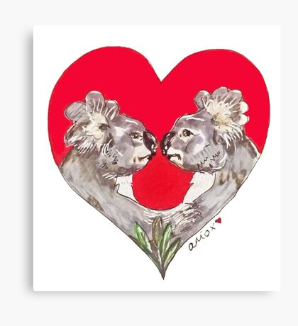 Be my Marsupial  Canvas Print