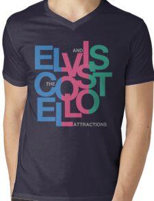 Elvis Costello (Black) Mens V-Neck T-Shirt