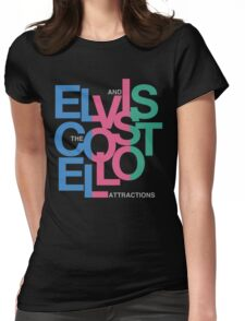 Elvis Costello (Black) Womens Fitted T-Shirt