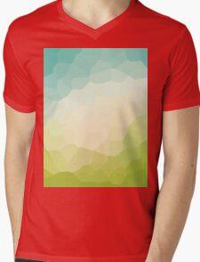abstract crystal design Mens V-Neck T-Shirt