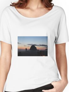 Haystack Rock at Cannon Beach, OR Women's Relaxed Fit T-Shirt