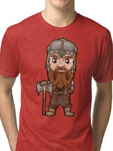 Lord of the Rings - Gimli the Dwarf with Axe Tri-blend T-Shirt