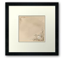 Vintage Wind-Up Birds Framed Print
