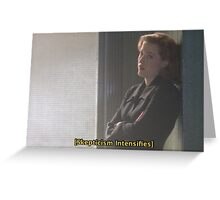 Oh, Scully. Greeting Card