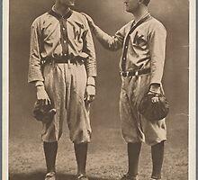 Walter Johnson and Charles E. Street Baseball Card by reddkaiman