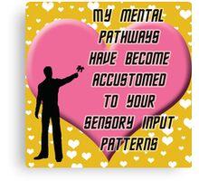 Data's Valentine Love Canvas Print
