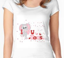 I Love U Tons  Women's Fitted Scoop T-Shirt