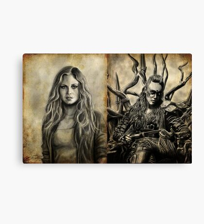 Clarke and Lexa (Clexa) Canvas Print