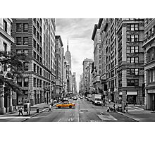 5th Avenue Yellow Cab - NYC Photographic Print