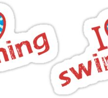 I Heart Swimming for Swimmers who love to Swim Sticker